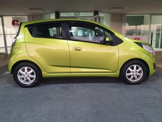 2012 Holden Barina Spark MJ MY12 CD Green 5 Speed Manual Hatchback.