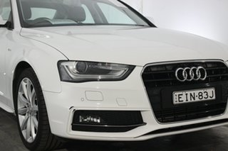 2014 Audi A4 B8 8K MY15 S Line Multitronic Ibis White 8 Speed Constant Variable Sedan.