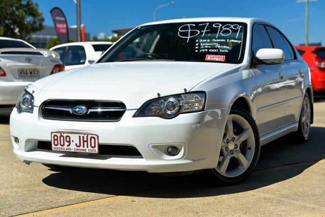 Used Subaru Liberty B4 MY05 AWD Newstead, 2005 Subaru Liberty B4 MY05 AWD White 5 Speed Manual Sedan