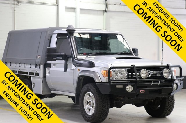 Used Toyota Landcruiser VDJ79R MY12 Update GXL (4x4), 2015 Toyota Landcruiser VDJ79R MY12 Update GXL (4x4) Silver 5 Speed Manual Cab Chassis