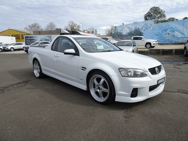 Used Holden Ute VE II SV6, 2011 Holden Ute VE II SV6 Heron White 6 Speed Manual Utility