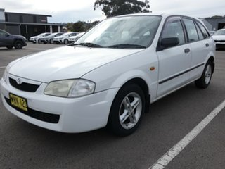 2000 Mazda 323 BJ Astina White 4 Speed Automatic Hatchback.