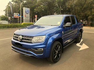 2019 Volkswagen Amarok 2H MY20 TDI580 4MOTION Perm Highline Black Blue 8 Speed Automatic Utility