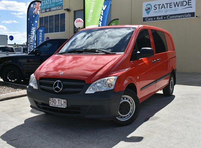 Used Mercedes-Benz Vito MY13 116CDI SWB Capalaba, 2013 Mercedes-Benz Vito MY13 116CDI SWB Red 5 Speed Automatic Van