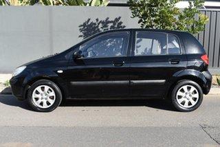 2007 Hyundai Getz TB MY07 S Black 5 Speed Manual Hatchback.