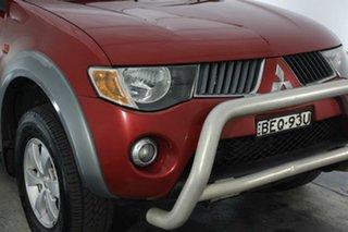 2008 Mitsubishi Triton ML MY08 GLX-R Double Cab Red 5 Speed Manual Utility.
