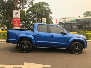 2019 Volkswagen Amarok 2H MY20 TDI580 4MOTION Perm Highline Black Blue 8 Speed Automatic Utility.
