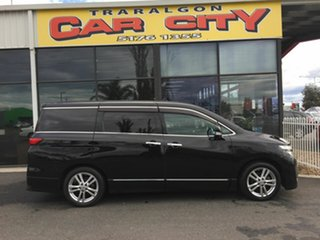 2010 Nissan Elgrand E51 Black 5 Speed Automatic Wagon.