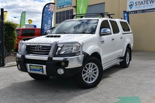 2012 Toyota Hilux KUN26R MY12 SR5 (4x4) White 4 Speed Automatic Dual Cab Pick-up.