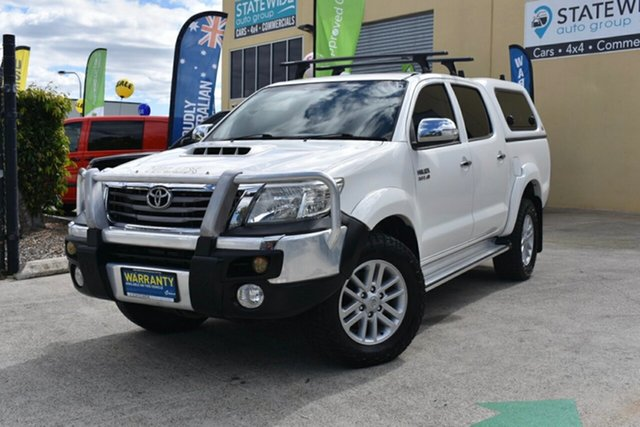 Used Toyota Hilux KUN26R MY12 SR5 (4x4), 2012 Toyota Hilux KUN26R MY12 SR5 (4x4) White 4 Speed Automatic Dual Cab Pick-up