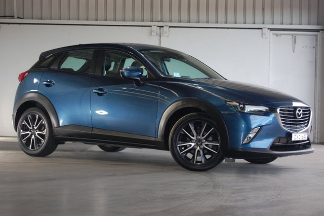Used Mazda CX-3 DK2W7A sTouring SKYACTIV-Drive, 2018 Mazda CX-3 DK2W7A sTouring SKYACTIV-Drive Blue 6 Speed Sports Automatic Wagon