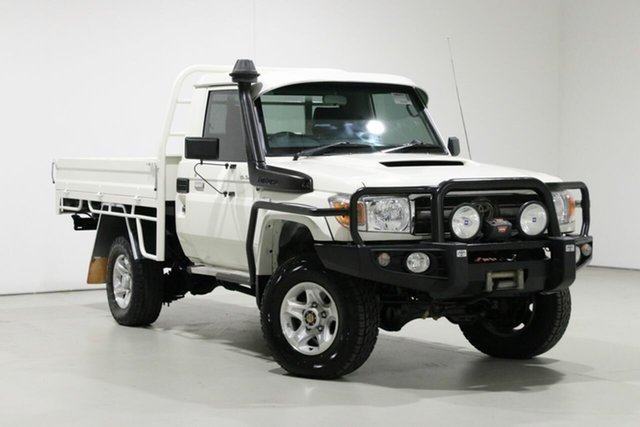 Used Toyota Landcruiser VDJ79R MY12 Update GXL (4x4), 2015 Toyota Landcruiser VDJ79R MY12 Update GXL (4x4) White 5 Speed Manual Cab Chassis
