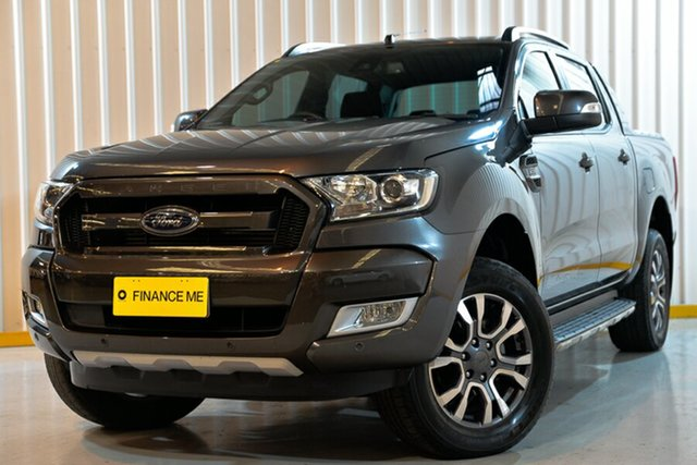 Used Ford Ranger PX MkII Wildtrak Double Cab, 2017 Ford Ranger PX MkII Wildtrak Double Cab Grey 6 Speed Sports Automatic Pick Up