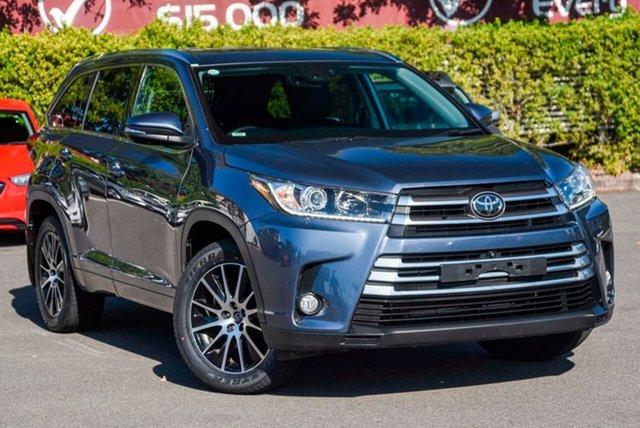 Used Toyota Kluger GSU55R Grande AWD, 2018 Toyota Kluger GSU55R Grande AWD Blue 8 Speed Sports Automatic Wagon