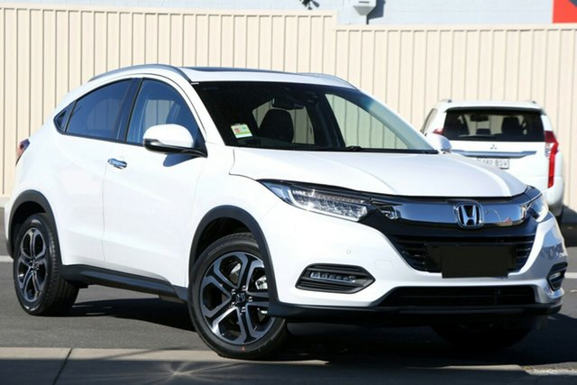 New Honda HR-V MY21 VTi-LX Newstead, 2021 Honda HR-V MY21 VTi-LX Platinum White 1 Speed Constant Variable Hatchback