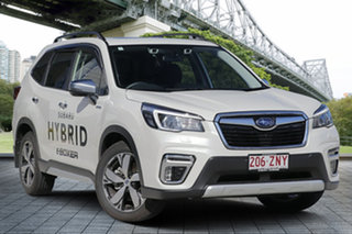 2019 Subaru Forester S5 MY20 Hybrid S CVT AWD White Crystal 7 Speed Constant Variable Wagon Hybrid.