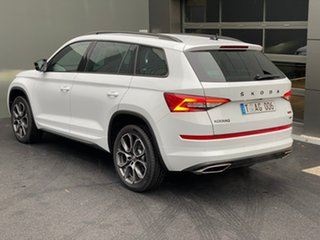 2020 Skoda Kodiaq NS MY20.5 RS DSG White 7 Speed Sports Automatic Dual Clutch Wagon