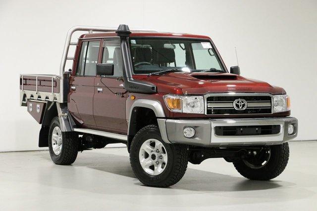 Used Toyota Landcruiser VDJ79R GXL (4x4), 2020 Toyota Landcruiser VDJ79R GXL (4x4) Red 5 Speed Manual Double Cab Chassis