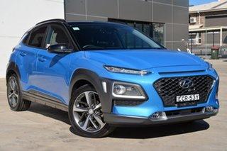 2018 Hyundai Kona OS.2 MY19 Highlander 2WD Blue 6 Speed Sports Automatic Wagon.