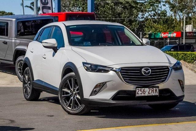 Used Mazda CX-3 DK2W7A sTouring SKYACTIV-Drive, 2015 Mazda CX-3 DK2W7A sTouring SKYACTIV-Drive White 6 Speed Sports Automatic Wagon