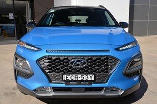 2018 Hyundai Kona OS.2 MY19 Highlander 2WD Blue 6 Speed Sports Automatic Wagon