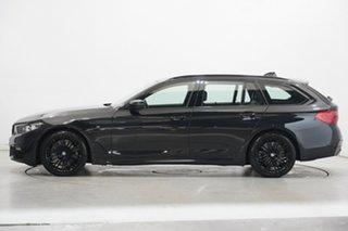 2018 BMW 5 Series G31 520d Touring Steptronic M Sport Black 8 Speed Sports Automatic Wagon.