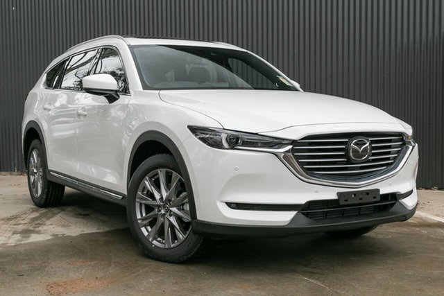 New Mazda CX-8 KG4W2A GT SKYACTIV-Drive i-ACTIV AWD, 2020 Mazda CX-8 KG4W2A GT SKYACTIV-Drive i-ACTIV AWD Snowflake White Pearl 6 Speed Sports Automatic