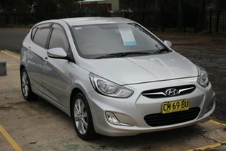 2012 Hyundai Accent RB Premium Silver 5 Speed Manual Hatchback.