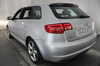 2010 Audi A3 8P MY11 TFSI Sportback S Tronic Ambition Silver 7 Speed Sports Automatic Dual Clutch