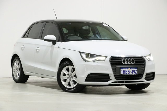 Used Audi A1 8X MY14 Sportback 1.4 TFSI Attraction, 2014 Audi A1 8X MY14 Sportback 1.4 TFSI Attraction White 7 Speed Auto Direct Shift Hatchback
