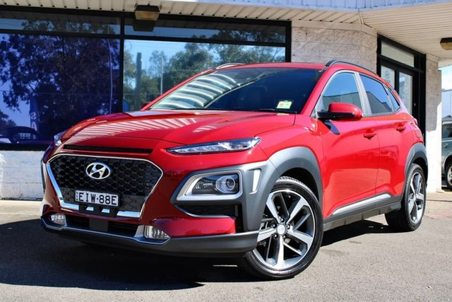 Demo Hyundai Kona OS.3 MY20 Highlander S.Roof RED (FWD), 2020 Hyundai Kona OS.3 MY20 Highlander S.Roof RED (FWD) Pulse Red 6 Speed Automatic Wagon