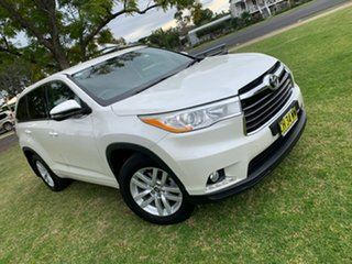 2016 Toyota Kluger GSU50R GX 2WD Crystal Pearl 6 Speed Sports Automatic Wagon.