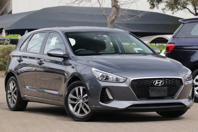 Used Hyundai i30 PD Active, 2017 Hyundai i30 PD Active Iron Grey 6 Speed Auto Sequential Hatchback