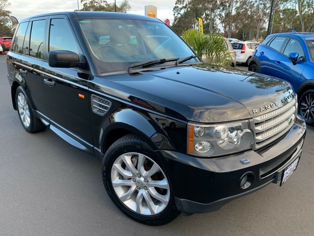 Used Land Rover Range Rover Sport L320 08MY TDV8, 2007 Land Rover Range Rover Sport L320 08MY TDV8 Black 6 Speed Sports Automatic Wagon