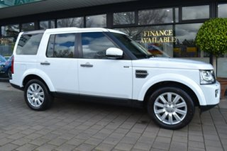 2016 Land Rover Discovery Series 4 L319 MY16.5 TDV6 White 8 Speed Sports Automatic Wagon