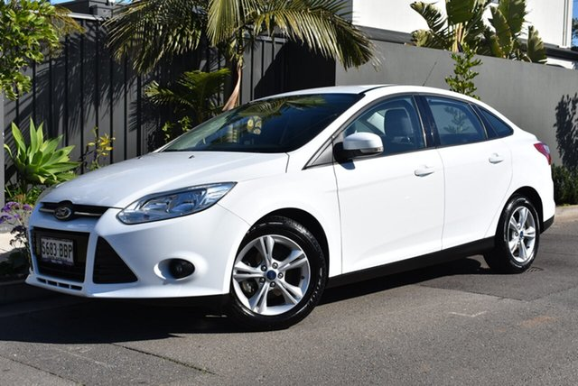 Used Ford Focus LW MkII MY14 Trend PwrShift, 2014 Ford Focus LW MkII MY14 Trend PwrShift White 6 Speed Automatic Sedan