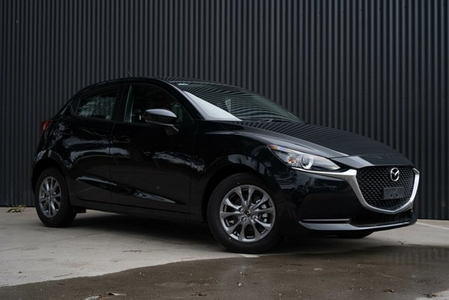 New Mazda 2 DJ2HAA G15 SKYACTIV-Drive Pure, 2020 Mazda 2 DJ2HAA G15 SKYACTIV-Drive Pure Jet Black 6 Speed Sports Automatic Hatchback