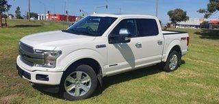 2019 Ford F150 (No Series) Platinum White Automatic Utility.