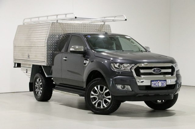 Used Ford Ranger PX MkII MY18 XLT 3.2 (4x4), 2018 Ford Ranger PX MkII MY18 XLT 3.2 (4x4) Grey 6 Speed Automatic Super Cab Utility