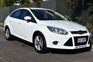 2014 Ford Focus LW MkII MY14 Trend PwrShift White 6 Speed Automatic Sedan