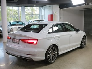 2018 Audi S3 8V MY18 S Tronic Quattro White 7 Speed Sports Automatic Dual Clutch Sedan