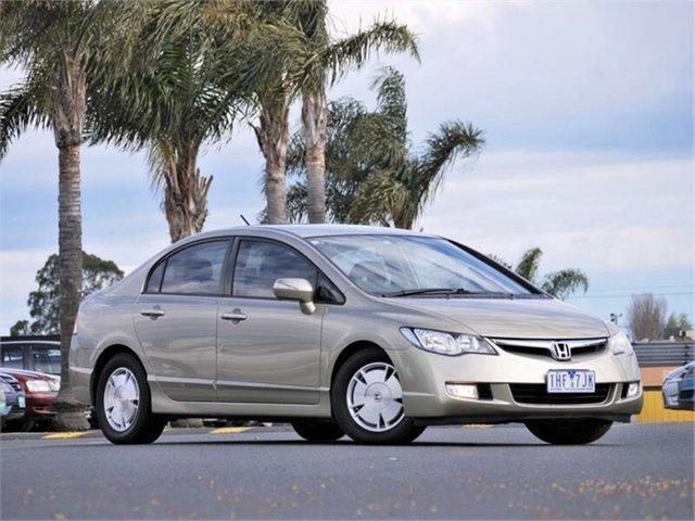 Used Honda Civic 8th Gen Hybrid Cheltenham, 2007 Honda Civic 8th Gen Hybrid Gold Constant Variable Sedan