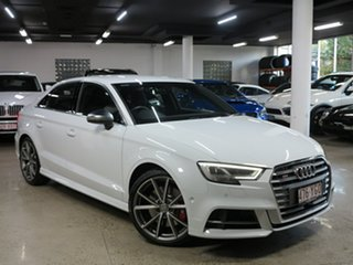 2018 Audi S3 8V MY18 S Tronic Quattro White 7 Speed Sports Automatic Dual Clutch Sedan.