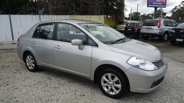 Used Nissan Tiida C11 MY07 ST-L, 2008 Nissan Tiida C11 MY07 ST-L Silver 4 Speed Automatic Sedan