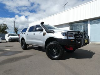 2017 Ford Ranger PX MkII XLS Double Cab Silver 6 Speed Sports Automatic Utility.