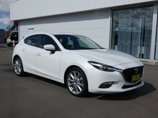 2017 Mazda 3 BN5438 SP25 SKYACTIV-Drive GT White 6 Speed Sports Automatic Hatchback.