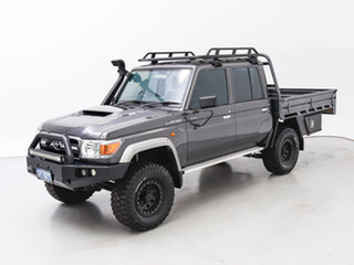 2018 Toyota Landcruiser VDJ79R GXL (4x4) Grey 5 Speed Manual Double Cab Chassis