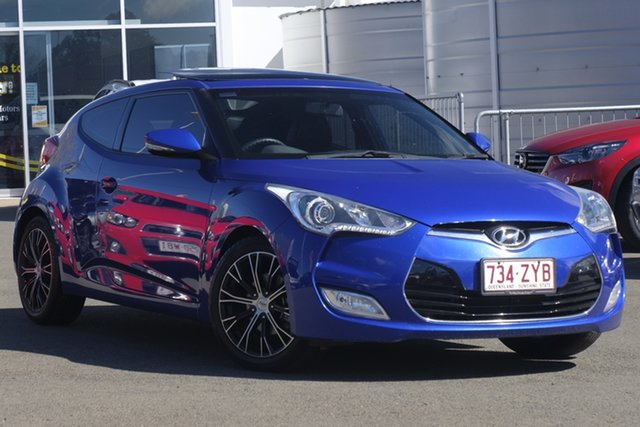 Used Hyundai Veloster FS2 Coupe D-CT, 2013 Hyundai Veloster FS2 Coupe D-CT Ocean Blue 6 Speed Sports Automatic Dual Clutch Hatchback