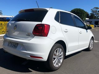 2014 Volkswagen Polo 6R MY15 81TSI DSG Comfortline White 7 Speed Sports Automatic Dual Clutch