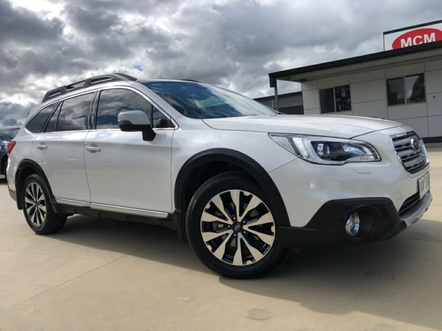 Used Subaru Outback B6A MY17 3.6R CVT AWD, 2017 Subaru Outback B6A MY17 3.6R CVT AWD Crystal White Pearl 6 Speed Constant Variable Wagon